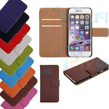 Genuine HandMade Real Leather Book Flip Wallet Case Cover for iPhone 5 5S 6 4 4S