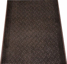 Dean Downtown Diamonds Chocolate Washable Non-Skid Carpet Rug Runner