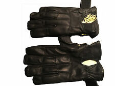 Black Genuine Leather Premium Quality with Sand Kevlar Gloves – Protection