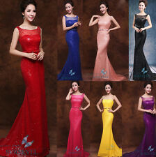 Sequins Long Formal Party Ball Gown Bridesmaid Dresses Prom Evening Dresses 6-16