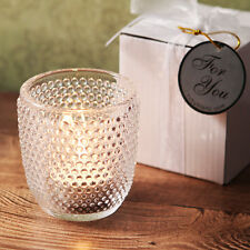 48 Clear Hobnail Glass Tea Light Candle Holder Birthday Bridal Wedding Favor