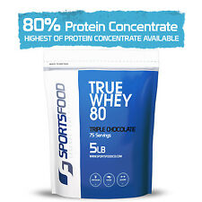 True Whey 80™ Protein Concentrate 5lb, 80% Protein Concentration, LOW Carb & Fat