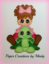 Craftecafe Mindy Girl turtle outdoors premade paper piecing scrapbook page album