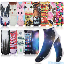 Men Women Galaxy Multiple Harajuku 3D Printed Cute Cotton High Socks 20 Colors