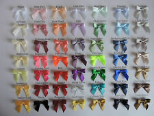 10mm Satin Ribbon  Bows  x 20  in 50 Colourways