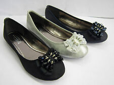 *SALE* LADIES FLAT CASUAL DOLLY SHOE 3 COLOURS ( SPOT ON F80058)