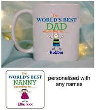 PERSONALISED MUG/COASTER, CHRISTMAS BIRTHDAY MOTHERS/FATHERS DAY GIFT, PRESENT