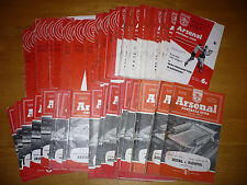 Arsenal home programmes  1966/67 & 1967/68