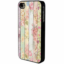 VINTAGE FLOWERS - WOOD  - IPOD TOUCH - CASE COVER