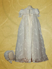 Cassiani Couture Elizabeth Embroidered Lace Baptism Dress Christening Gown