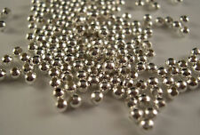 Silver Plated Finding Spacer Beads Various Sizes 3.4,4,5,6mm, Nickel & Lead Free