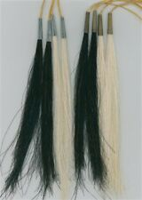 "8"" HORSE HAIR SCALP LOCKS BLACK OR WHITE TRIBAL CRAFTS POW WOW REGALIA"