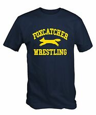 Men's Navy Blue Foxcatcher Wrestling T Shirt Tee Top Olympic NEW
