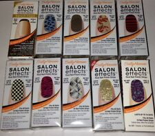 SALLY HANSEN SALON EFFECTS REAL NAIL POLISH STRIPS - YOU PICK COLOR FROM MENU!