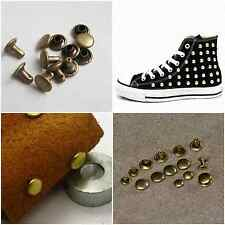 10x 4/6/8MM Leathercraft DIY Punk Round Stud Spots Rivets Leather Rapid Rivets #