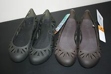 NEW Women's Crocs Adrina 3 black or brown casual flats shoes