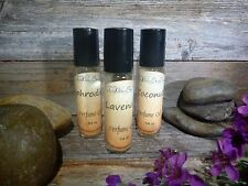 Fragrance Body Oil 1/4 oz Roller Bottles BUY 3/1 FREE Non Greasy Natural Perfume