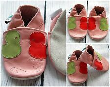 Baby Girl Leather Soft Sole Shoes pink BIRD