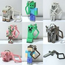 "4"" Hot Jazwares 3D Figure Game Toys Minecraft BACK PACK CLIPS Keychain Keyrings"