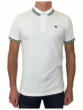 SALE Weekend Offender Mens Cotton Pitbull Polo Shirt Top In White