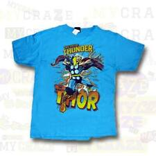 THE MIGHTY THOR Marvel Boys Youth Licensed Blue T-Shirt