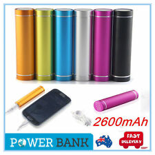 Portable 2600mAh External USB Power Bank Battery Charger For iPhone Samsung MP4