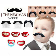 Baby Funny Dummy Prank Pacifier Novelty Teeth Children Child Lip Soother Nipple