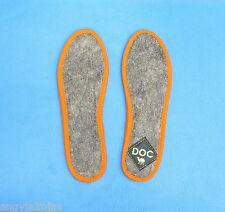 WARM 100% camel felted wool insoles for winter, cold weather / 1 pair