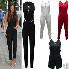 Women Ladies Michelle Keegan Lace Black Sexy Night Out Party Jumpsuit Playsuit
