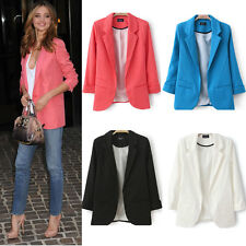 Fashion Ladies Long Sleeve Suit Jacket Coat Outwear Slim Casual Women Blazer