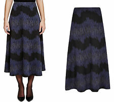 "New MARKS & SPENCER Fabulous Black/Blue Stretch SKIRT Length 36"" Size 8-18"