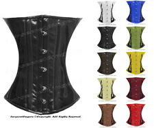 #H9033(B) Authentic Leather 100% Full Steel Boned Heavy Lacing Underbust Corset