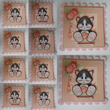 PACK 2 CATS WHISKERS EMBELLISHMENT TOPPERS FOR CARDS OR CRAFTS 10 THEMES