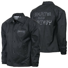 "New THRASHER SKATEBOARD MAGAZINE ""Skate & Destroy"" Windbreaker Coach Jacket"
