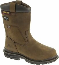 NIB CAT CATERPILLAR MENS BURNER WATERPROOF COMPOSITE TOE WORK BOOT BROWN P90323