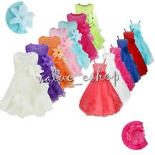 Flower Girls Princess Kids Communion Party Pageant Wedding Bridesmaid Tutu Dress