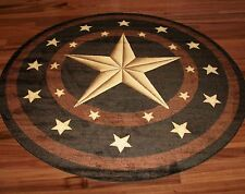 Western Star Rug Black Brown Tan Texas Barn Star Rug Western Decor