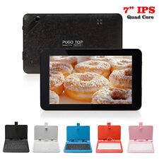 "Pugo Top I7 7"" IPS Quad Core Android 4.4 Tablet PC Dual Cam Wifi 8GB w/ Keyboard"