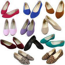 NEW WOMENS FLAT PUMPS LADIES SUEDE BALLET BALLERINA DOLLY BRIDAL SHOES SIZE