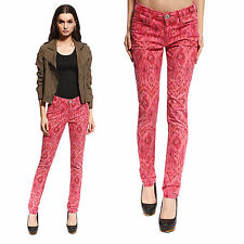 Women Ladies Skinny Fit Snake Print Stretch Jeans Jeggings Slim Fit Denim 4-16