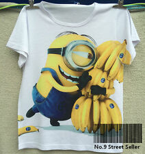 New T-shirt Top Tee Happy Yellow Minions Favorite is Banana Yummy Cartoon Cute