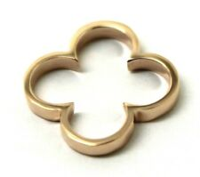 GENUINE SOLID 9CT YELLOW, ROSE OR WHITE GOLD SMALL FOUR LEAF CLOVER PENDANT 427