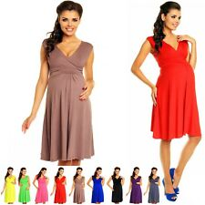 Zeta Ville Women's Maternity Breastfeeding Flattering Summer Skater Dress 256c