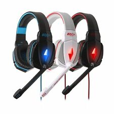 Stereo Gaming Music Headset Headphones 3.5mm LED with Mic for Table Smartphone