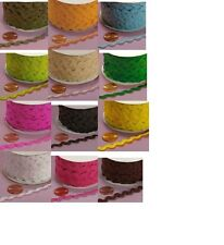 Ric Rac Trim 7mm/ Slightly More Than 1/4 inch  select color price for 5 yard