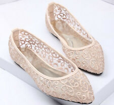 Ivory Wedding flat ballet lace flower mush Bridal shoes Bridesmaid shoes dress
