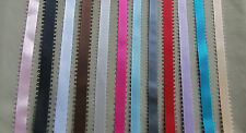 """5 yds SATIN FEATHER EDGE PICOT RIBBON 3/8"""" wide (your choice of 15 colors)"""