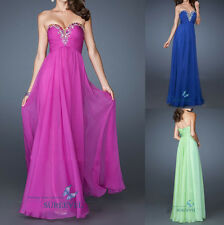 Empire Chiffon Long Cocktail Party Evening Dress Bridesmaid Dress Prom Ball Gown