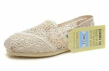 Toms Natural Morocco Crochet Classic Women Slip-On Sz5-11 Fast Shipping L. M(9.5