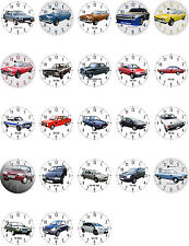 Wall Clock With Motif: Ford Europe Automobile Part 1 Motifs VEHICLE Car longer